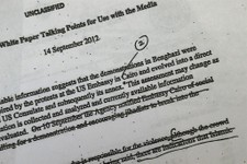 -                A portion of a page of emails that the White House released Wednesday, May 15, 2013, that document how the Obama administration crafted its public talking points immediately following t