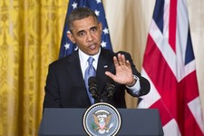 -                In this photo taken May 13, 2013, President Barack Obama defends his administration's actions in the wake of the attacks on the U.S. consulate in Benghazi, Libya, last year, calling Con