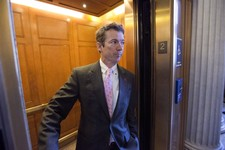 -                FILE - In this March 7, 2013, file photo, Sen. Rand Paul, R-Ky. is questioned by reporters in an elevator as he leaves a GOP policy meeting on Capitol Hill in Washington. Paul and Repub