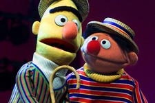 """-                FILE - In this Aug. 22, 2001 file photo, Muppets Bert, left, and Ernie, from the children's program """"Sesame Street,"""" are shown in New York. Kermit the Frog, Miss Piggy, Bert and Ernie o"""