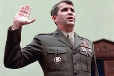 -                FILE - In this Dec. 18, 1986 file photo, Oliver North is sworn in on Capitol Hill in Washington prior to testifying before the House Foreign Affairs  Committee. Lois Lerner of the IRS j