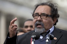 -                FILE - In this Feb. 27, 2013, file photo, Rep. Raul Grijalva, D-Ariz. gestures as he speaks during a news conference on Capitol Hill in Washington, Wednesday, Feb. 27, 2013. House Repub