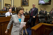 -                IRS official Lois Lerner arrives on Capitol Hill in Washington, Wednesday, May 22, 2013, to testify before the House Oversight and Government Reform Committee hearing to investigate the