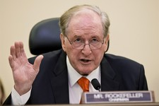 -                Senate Commerce Committee Chairman Sen. John D. Rockefeller, D-W.Va., questions Chicago billionaire business executive Penny Pritzker, President Obama's pick for Commerce Secretary, as