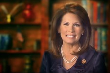 -                This image taken from michelebachmann.com, shows Congresswoman Michele Bachmann making a video announcement on her website.  Bachmann, the staunchly conservative ex-presidential candida