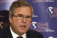 -                FILE - In this April 24, 2013 file photo, former Florida Gov. Jeb Bush speaks in Dallas. The potential Republican presidential candidate will be one of the speakers at the Mackinac Conf
