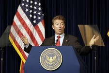 -                U.S. Sen. Rand Paul, R-Ky., speaks at the Ronald Reagan Presidential LIbrary in Simi Valley, Calif., Friday, May 31, 2013. (AP Photo/Reed Saxon)