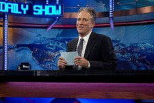 "-                FILE - This Oct. 18, 2012 file photo shows host Jon Stewart during a taping of ""The Daily Show with John Stewart"", in New York.  Comedy Central says Jon Stewart will take a break from """