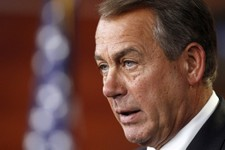 -                House Speaker John Boehner of Ohio, speaks during a news conference on Capitol Hill in Washington, Thursday, June 6, 2013. Boehner answered questions from reporters on topics ranging fr