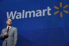 -                President and CEO, Walmart International Doug McMillan addresses the crowd on Wal-Mart 's 2012 worldwide sales during the Walmart shareholders meeting in Fayetteville, Ark., Friday, Jun