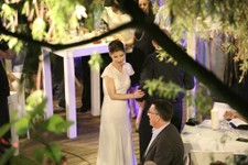 -                In this photo made on May 16, 2013, Gideon Saar and Geula Even are seen during their wedding in Tel Aviv, Israel. Together they have emerged as the country's most high-profile power cou