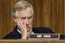 -                FILE - In this Jan. 31, 2013, file photo Sen. Angus King, I-Maine, listens to testimony during hearing on Capitol Hill in Washington. After revelations this week that the National Secur