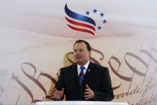 -                Sen. Mike Lee, R-Utah speaks at the Faith and Freedom Coalition Road to Majority Conference in Washington, Thursday, June 13, 2013. The fight for the direction of the Republican Party w