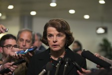 -                Sen. Dianne Feinstein, D-Calif., chair of the Senate Intelligence Committee, speaks to the media after attending a meeting regarding National Security Agency programs, on Capitol Hill i