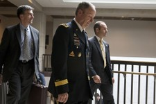 -                Gen. Keith Alexander, Director of the National Security Agency, center, leaves a Senate Intelligence Committee meeting regarding NSA programs, in Washington, Thursday, June 13, 2013. (A
