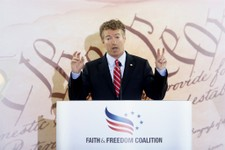 -                Sen. Rand Paul, R-Ky. speaks at the Faith and Freedom Coalition Road to Majority Conference in Washington, Thursday, June 13, 2013. The fight for the direction of the Republican Party w