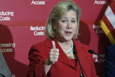 -                FILE - In this Dec. 9, 2009, file photo, Sen. Mary Landrieu, D-La., speaks at a health care news conference on Capitol Hill in Washington. Far from reversing course, Senate Democrats wh