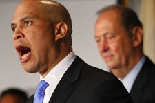-                FILE - In this Saturday, June 8, 2013, file photo, Newark Mayor Cory Booker announces his plans to run for the U.S. Senate seat that opened with the death of Frank Lautenberg (D-N.J.) i
