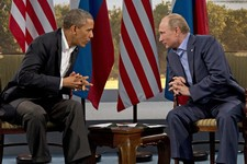 -                President Barack Obama meets with Russian President Vladimir Putin in Enniskillen, Northern Ireland, Monday, June 17, 2013. Obama and Putin discussed the ongoing conflict in Syria durin