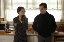 "-                This TV publicity image released by FX shows  Keri Russell as Elizabeth Jennings, left, and Matthew Rhys as Philip Jennings in a scene from the spy drama ""The Americans.""   Gandolfini's"