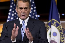 -                House Speaker John Boehner of Ohio responds to reporters' questions on immigration reform legislation, jobs, and President Barack Obama's plan to put limits on the carbon emissions of e