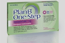 -                FILE - This undated file photo provided by Barr Pharmaceuticals Inc., shows a package of Plan B' One-Step, an emergency contraceptive. The morning-after pill is finally going over-the-c
