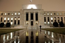 -                FILE - This March 27, 2009 file photo, shows the Federal Reserve Building on Constitution Avenue in Washington. All it took was speculation that the Federal Reserve could slow its bond