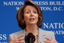 """-                FILE - In this Jan. 25, 2008, file photo, House Speaker Nancy Pelosi of Calif. discusses """"The State of Our Union"""" at the National Press Club in Washington. Some of the activists attendi"""