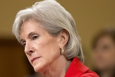 -                FILE - In this April 12, 2013 file photo, Health and Human Services (HHS) Secretary Kathleen Sebelius testifies on Capitol Hill in Washington. With less than 100 days to go before unins