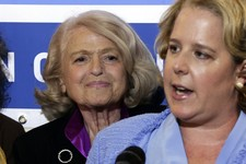 -                ADDS THAT WINDSOR IS THE PLAINTIFF IN THE HISTORIC GAY MARRIAGE CASE BEFORE THE U.S. SUPREME COURT - Edith Windsor, left, the plaintiff in the historic gay marriage case before the U.S.