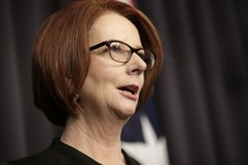 -                Australian Prime Minister Julia Gillard speaks to the media following a leadership ballot for the Labor Party at parliament in Canberra, Australia, Wednesday, June 26, 2013. Gillard was