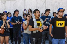 -                Immigrant students join a coalition of immigrant rights supporters on a 24-hour vigil calling on the U.S. Congress to pass immigration reform outside the Federal Building in Los Angeles