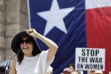 -                Actress Lisa Edelstein speaks during a rally supporting abortion rights outside the Texas Capitol, Monday, July 1, 2013, in Austin, Texas. The Texas Senate has convened for a new 30-day