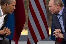 -                FILE - This June 17, 2013 file photo shows President Barack Obama meeting with Russian President Vladimir Putin in Enniskillen, Northern Ireland. President Barack Obama brushed aside sh