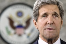 -                U.S. Secretary of State John Kerry makes a statement to the press regarding his meeting with Russian Foreign Minister Sergey Lavrov on subjects including Syria at the U.S. Embassy in Ba