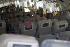 -                This image released by the National Transportation Safety Board, Sunday, July 7, 2013, shows the interior of the Boeing 777 Asiana Airlines Flight 214 aircraft. The Asiana flight crashe
