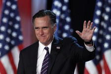 -                FILE - This Nov. 7, 2012 file photo shows then-Republican presidential candidate, former Massachusetts Gov. Mitt Romney waving to supporters at an election night rally in Boston. Republ