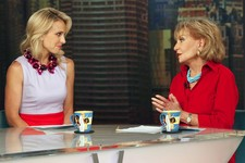 "-                This image released by ABC shows Elisabeth Hasselbeck and Barbara Walters, co-hosts on ""The View,"" during a broadcast on Wednesday, July 10, 2013, in New York. Wednesday was Hasselbeck'"