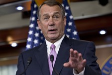 -                House Speaker John Boehner of Ohio gestures during a news conference on Capitol Hill in Washington, Thursday, July 11, 2013, where he talked about immigration reform, student loans, and