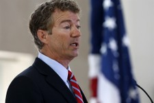 -                FILE - In this June 13, 2013 file photo, Sen. Rand Paul, R-Ky. speaks in Washington, Thursday, June 13, 2013. Paul has introduced a bill to halt the $1.5 billion in annual U.S. aid to E