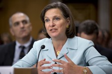 -                Victoria Nuland, President Barack Obama's nominee to be Assistant Secretary of State for European and Eurasian Affairs, testifies on Capitol Hill in Washington, Thursday, July 11, 2013,