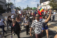 -                Thousands of demonstrators protest in Los Angeles on Sunday, July 14, 2013, the day after George Zimmerman was found not guilty in the shooting death of Trayvon Martin. Seventeen-year-o