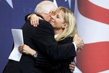 -                FILE - This Feb. 18, 2010 file photo shows Former Vice President Dick Cheney hugs his daughter, Liz Cheney, at the Conservative Political Action Conference (CPAC) in Washington. Liz Che