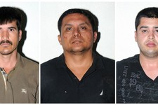 -                In this combo of three photos released on Tuesday, July 16, 2013 by the Mexican Navy, are Zetas drug cartel leader Miguel Angel Trevino Morales, center, Ernesto Reyes Garcia, left, and