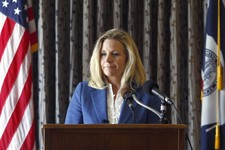 -                Liz Cheney speaks during a campaign appearance in Casper, Wyoming, Wednesday, July 17, 2013. Cheney, the elder daughter of former Vice President Dick Cheney, announced on Tuesday her GO