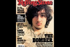 "-                In this magazine cover image released by Wenner Media, Boston Marathon bombing suspect  Dzhokhar Tsarnaev appears on the cover of the Aug. 1, 2013 issue of ""Rolling Stone."" (AP Photo/We"