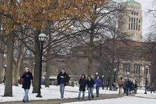 -                FILE - In this Jan. 28, 2008 file photo, students walk on the University of Michigan campus in Ann Arbor, Mich. The University of Michigan decided Thursday, July 18, 2013, to allow stud