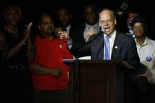 "-                FILE - In this Thursday, Aug. 5, 2010 file photo, Congressman Steve Cohen accepts his victory in Memphis, Tenn. Cohen says he's ""stunned and dismayed"" to learn that DNA tests revealed h"
