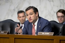 -                Sen. Ted Cruz, R-Texas, the ranking Republican on the Senate subcommittee on Constitution, Civil Rights & Human Rights, asks questions of a panel of witnesses, on Capitol Hill in Washin