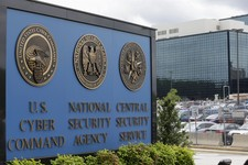 -                FILE - This June 6, 2013 file photo shows the sign outside the National Security Administration (NSA) campus in Fort Meade, Md.  The authority of the National Security Agency to collect